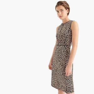 J.Crew Leopard Print Sheath Dress